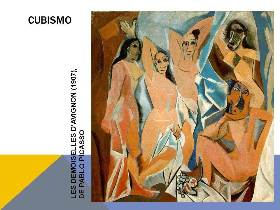 CUBISMO LES DEMOISELLES DAVIGNON (1907), DE PABLO PICASSO