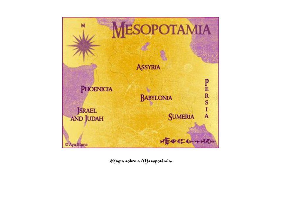 Mapa sobre a Mesopotâmia.