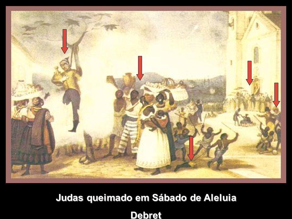 Judas queimado em Sábado de Aleluia Debret