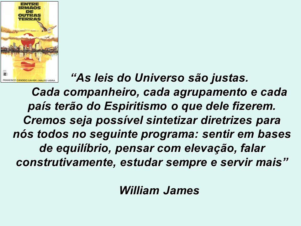 Em entrevista espiritual com André Luiz, William James (N.Y., 27/6/1965) faz oportunas considerações: Temos aprendido que não surgem construções estáv