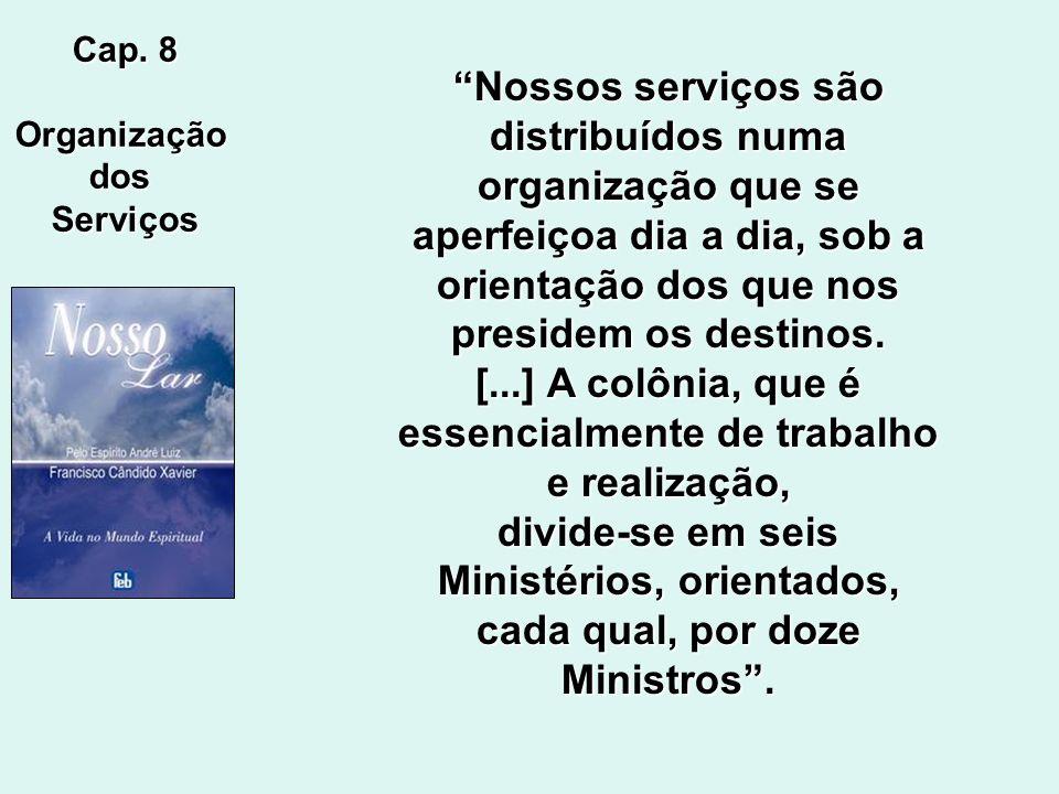 Cap. 75 Administração Na essência, cada homem é servidor pelo trabalho que realiza na obra do Supremo Pai, e, simultaneamente, é administrador, porqua