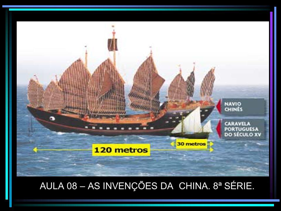 AULA 08 – AS INVENÇÕES DA CHINA. 8ª SÉRIE.