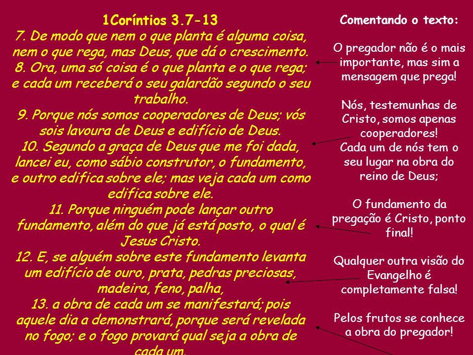 1Coríntios 3.7-13 7.