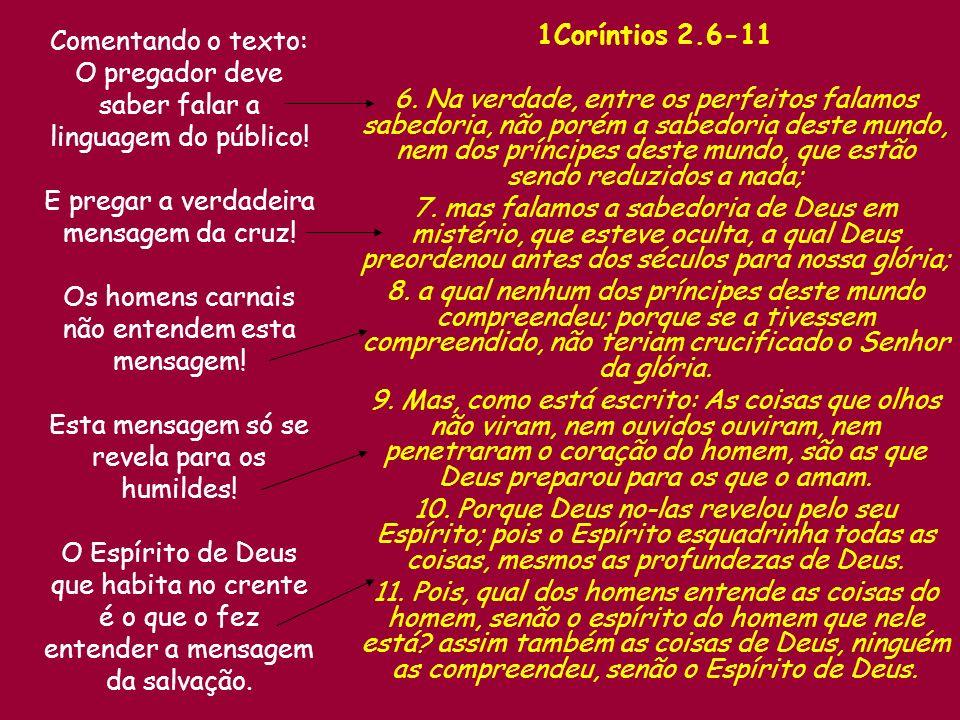 1Coríntios 2.6-11 6.