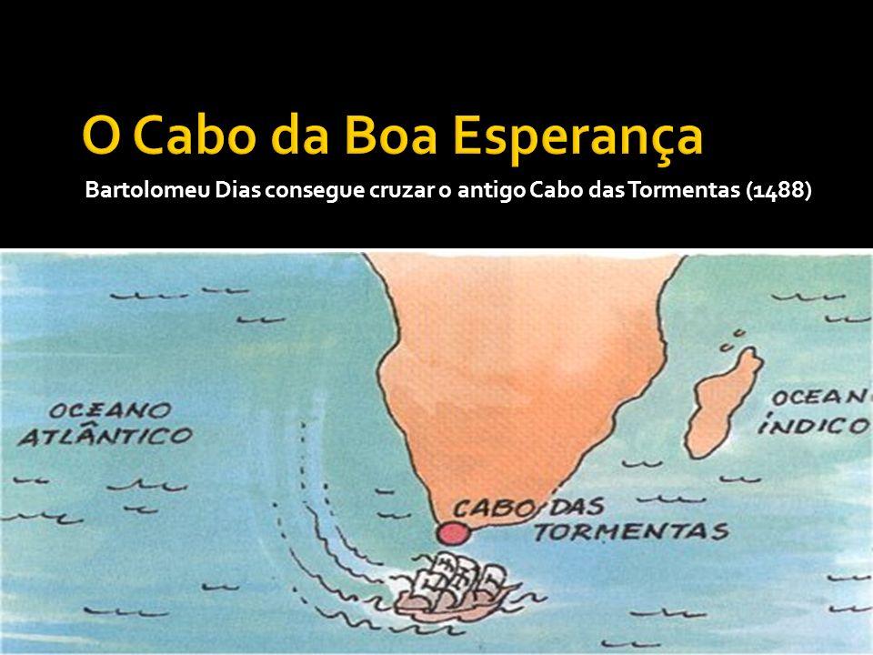 Bartolomeu Dias consegue cruzar o antigo Cabo das Tormentas (1488)