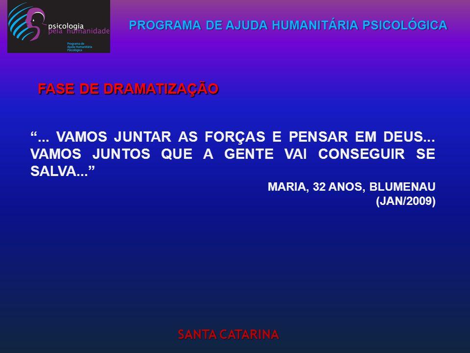 PROGRAMA DE AJUDA HUMANITÁRIA PSICOLÓGICA SANTA CATARINA... VAMOS JUNTAR AS FORÇAS E PENSAR EM DEUS... VAMOS JUNTOS QUE A GENTE VAI CONSEGUIR SE SALVA