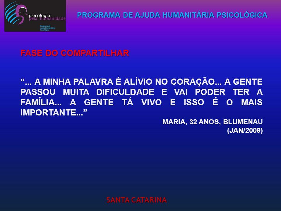 PROGRAMA DE AJUDA HUMANITÁRIA PSICOLÓGICA SANTA CATARINA... A MINHA PALAVRA É ALÍVIO NO CORAÇÃO... A GENTE PASSOU MUITA DIFICULDADE E VAI PODER TER A