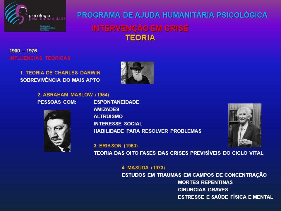 PROGRAMA DE AJUDA HUMANITÁRIA PSICOLÓGICA PROGRAMA DE AJUDA HUMANITÁRIA - PREVENÇÃO PRIMÁRIA REDUÇÃO DE TRANSTORNOS - PREVENÇÃO SECUNDÁRIA REDUÇÃO DE EFEITOS DOS DANOS - PREVENÇÃO TERCIÁRIA REPARAÇÃO DOS EFEITOS DANOSOS