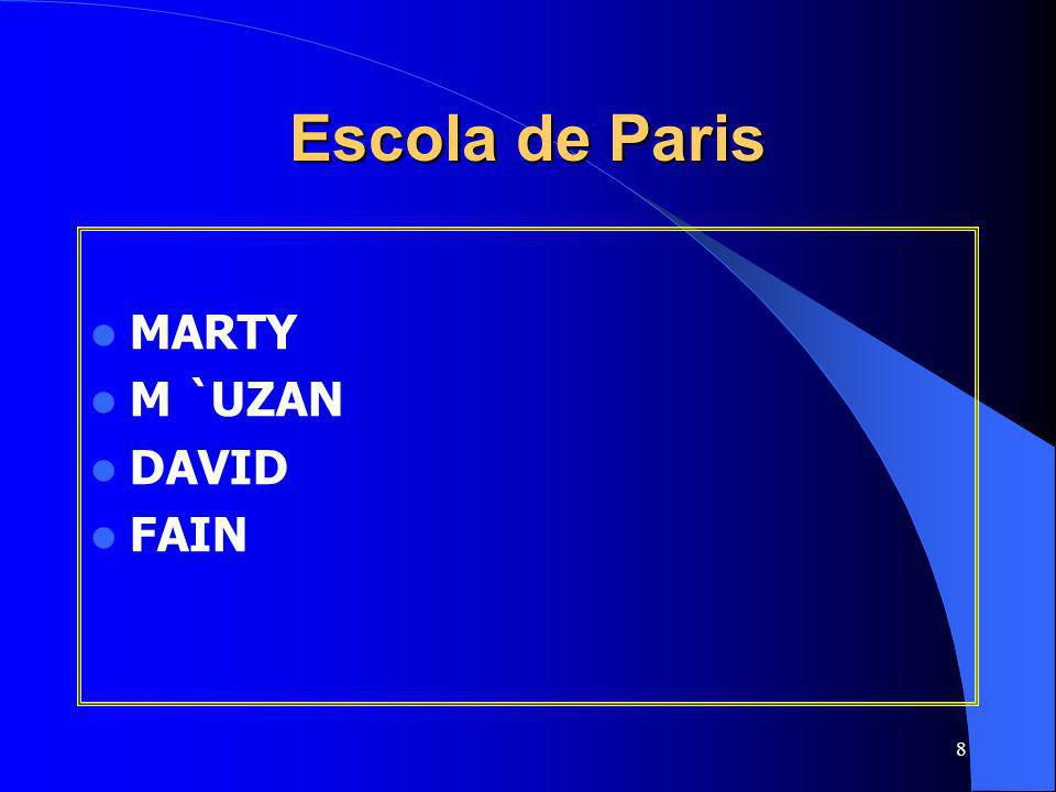 8 Escola de Paris MARTY M `UZAN DAVID FAIN