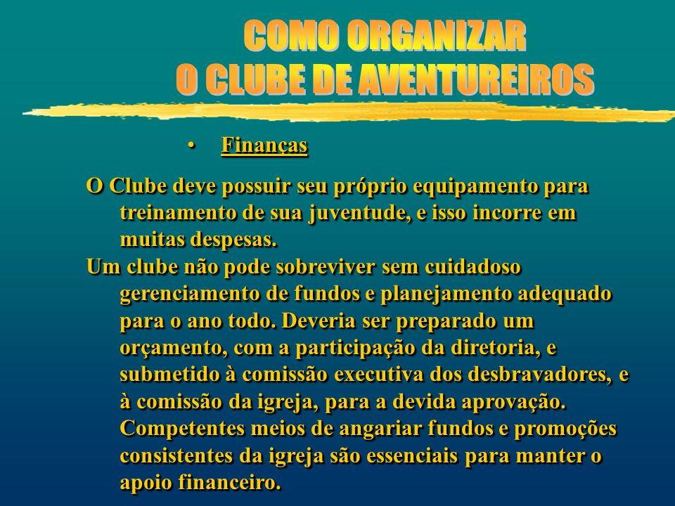 FinançasFinanças O Clube deve possuir seu próprio equipamento para treinamento de sua juventude, e isso incorre em muitas despesas. Um clube não pode