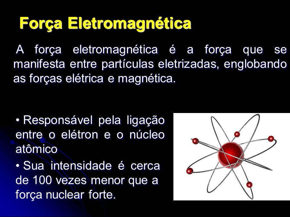 Força Eletromagnética A força eletromagnética é a força que se manifesta entre partículas eletrizadas, englobando as forças elétrica e magnética. A fo