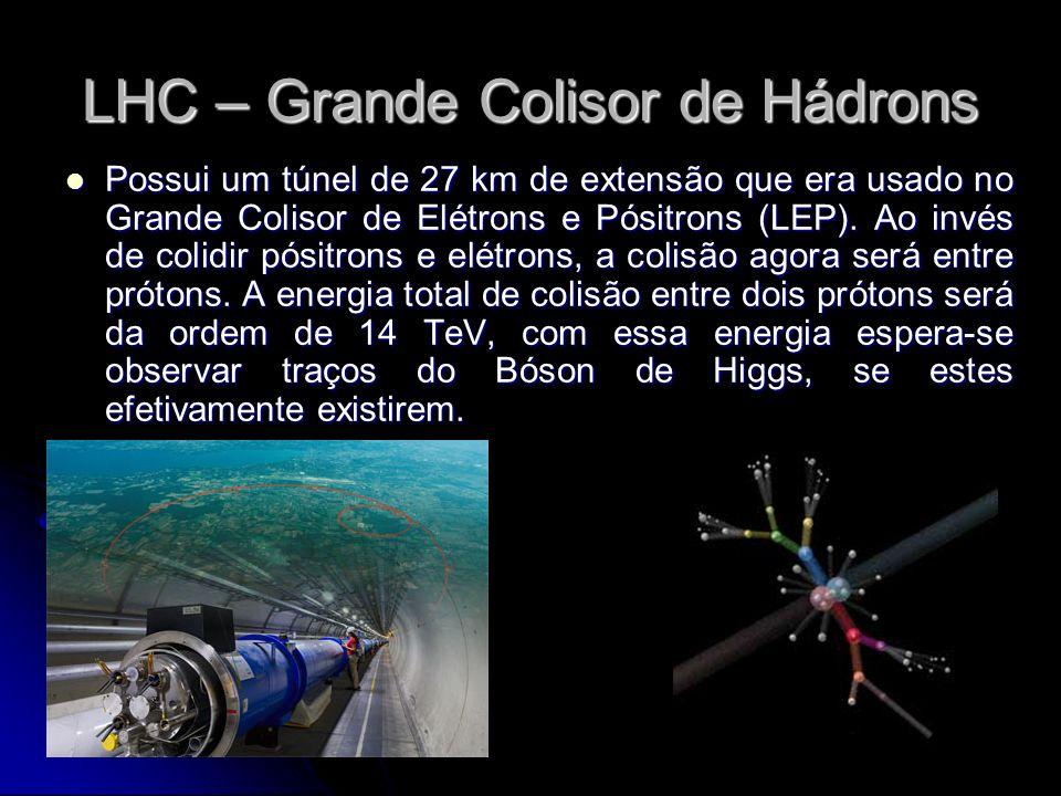 Possui um túnel de 27 km de extensão que era usado no Grande Colisor de Elétrons e Pósitrons (LEP). Ao invés de colidir pósitrons e elétrons, a colisã