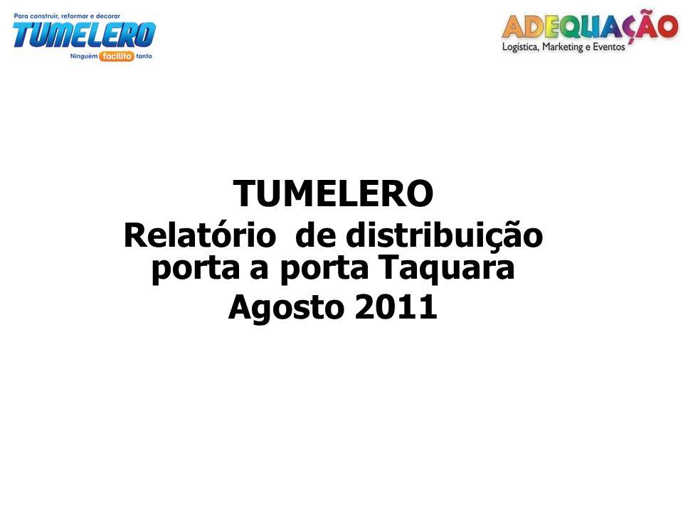 TUMELERO Relatório de distribuição porta a porta Taquara Agosto 2011