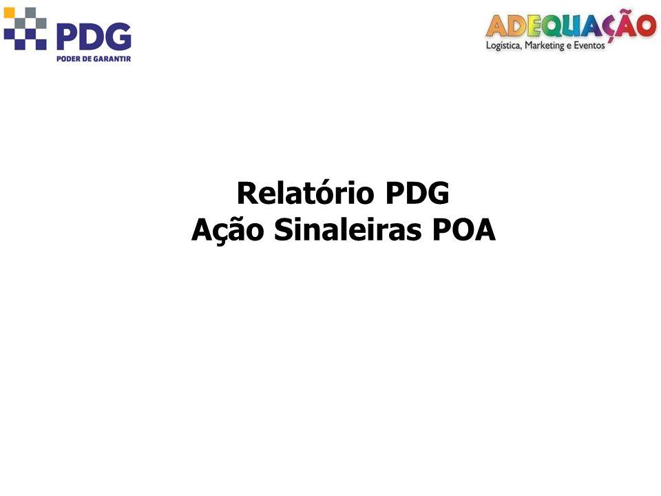 Relatório PDG Ação Sinaleiras POA