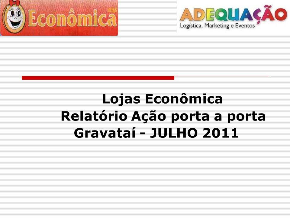 Lojas Econômica Relatório Ação porta a porta Gravataí - JULHO 2011