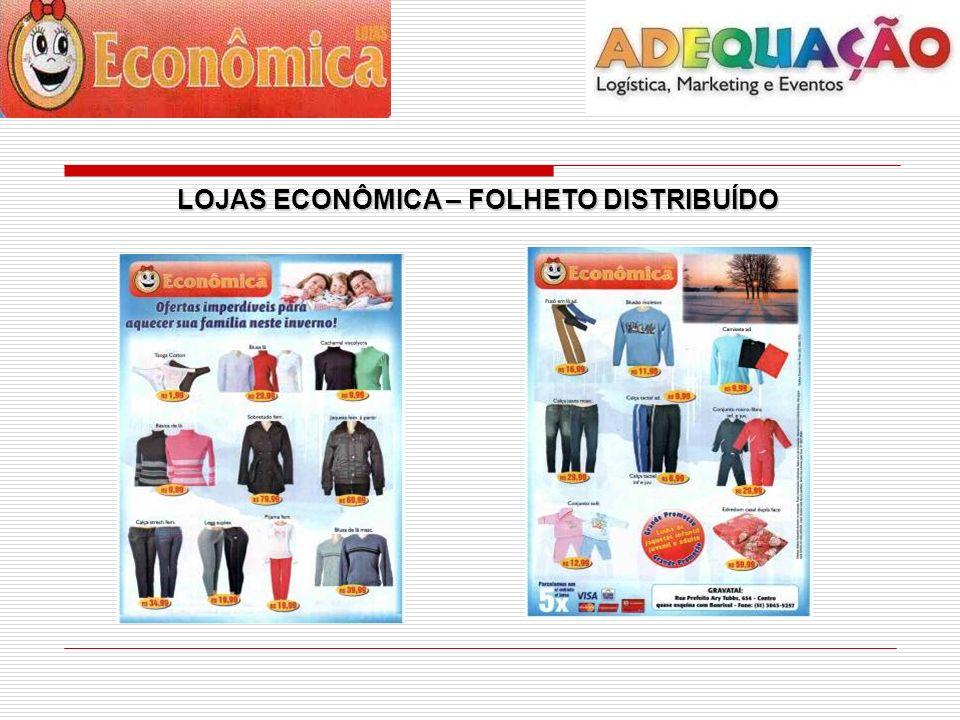 LOJAS ECONÔMICA – FOLHA DE ROSTO LOJAS ECONÔMICA – FOLHA DE ROSTO