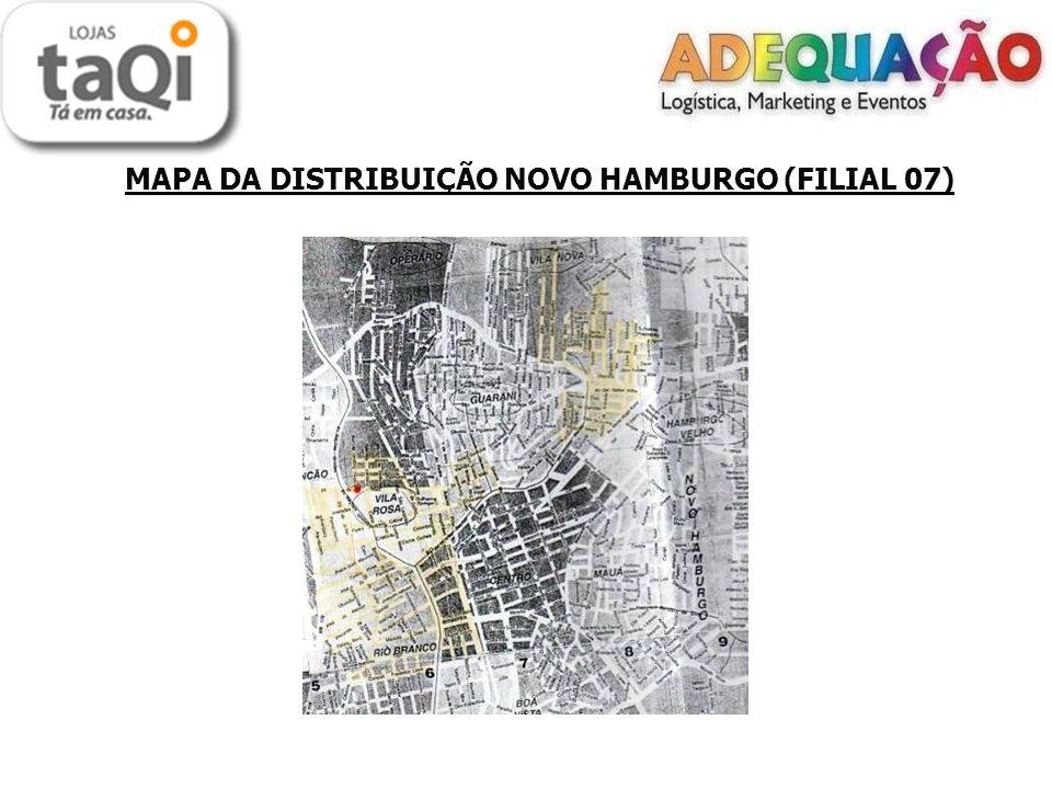 MAPA DA DISTRIBUIÇÃO NOVO HAMBURGO (FILIAL 07)