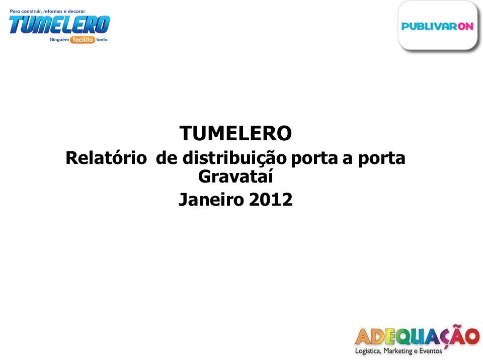 TUMELERO Relatório de distribuição porta a porta Gravataí Janeiro 2012
