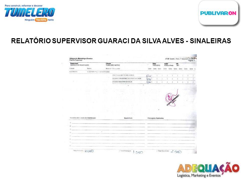 RELATÓRIO SUPERVISOR GUARACI DA SILVA ALVES - SINALEIRAS