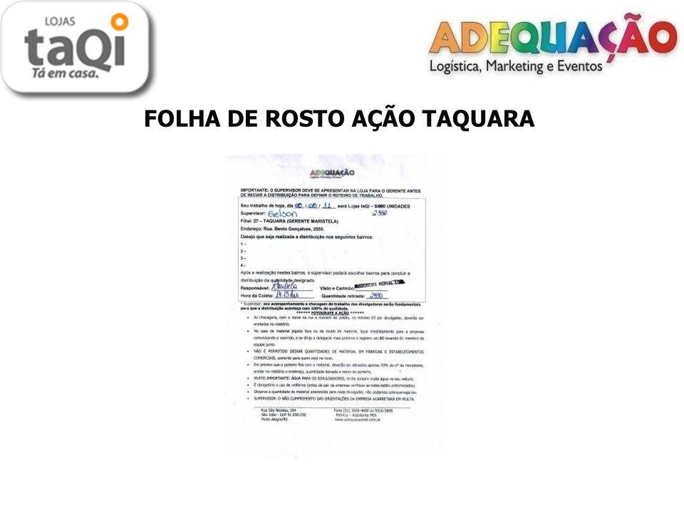 FOLHA DE ROSTO AÇÃO TAQUARA