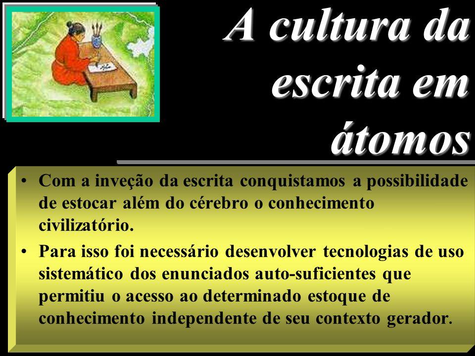 Conseqüência => gestão do tempo na cultura oral INÍCIO/ FIM REITERAÇÃO CONSTANTE