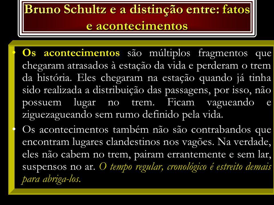 FATOS X ACONTECIMENTOS: Bruno Schultz escreveu num livro