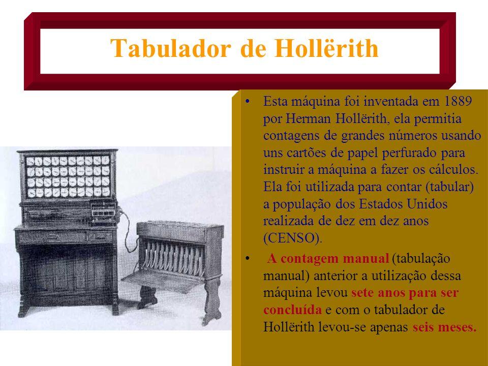 O VOVÔ DO COMPUTADOR Ao lado vemos a famosa Máquina Analítica concebida por um gênio britânico em 1822 chamado Charles Babbage. Ela foi pensada para e