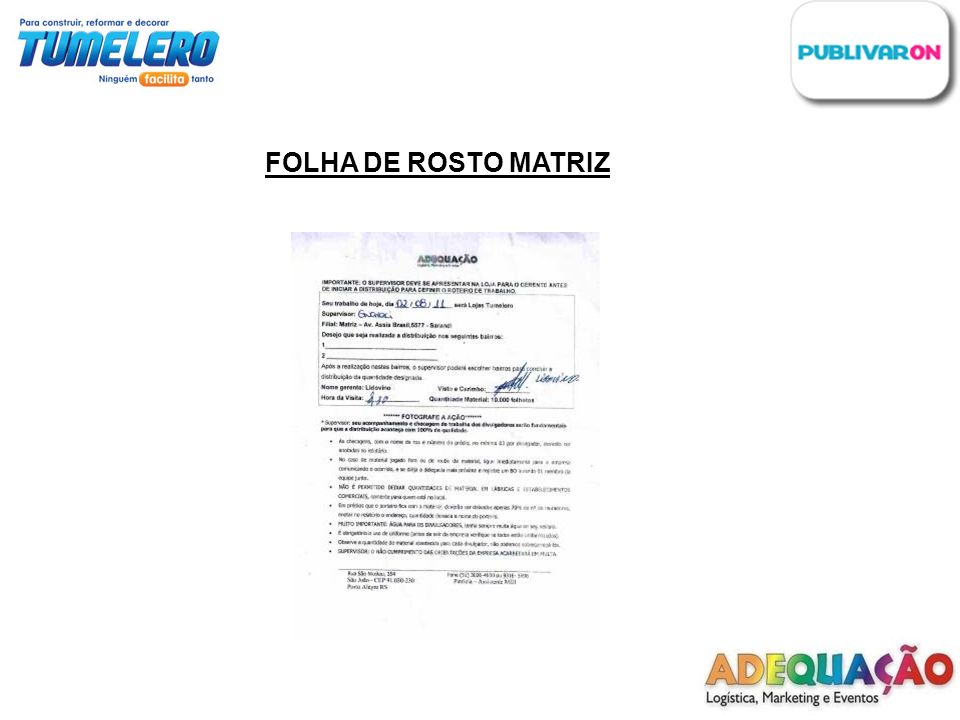 FOLHA DE ROSTO MATRIZ