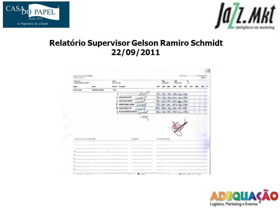 Relatório Supervisor Gelson Ramiro Schmidt 22/09/2011