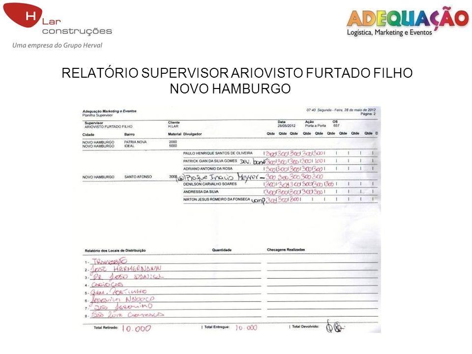 RELATÓRIO SUPERVISOR ARIOVISTO FURTADO FILHO NOVO HAMBURGO