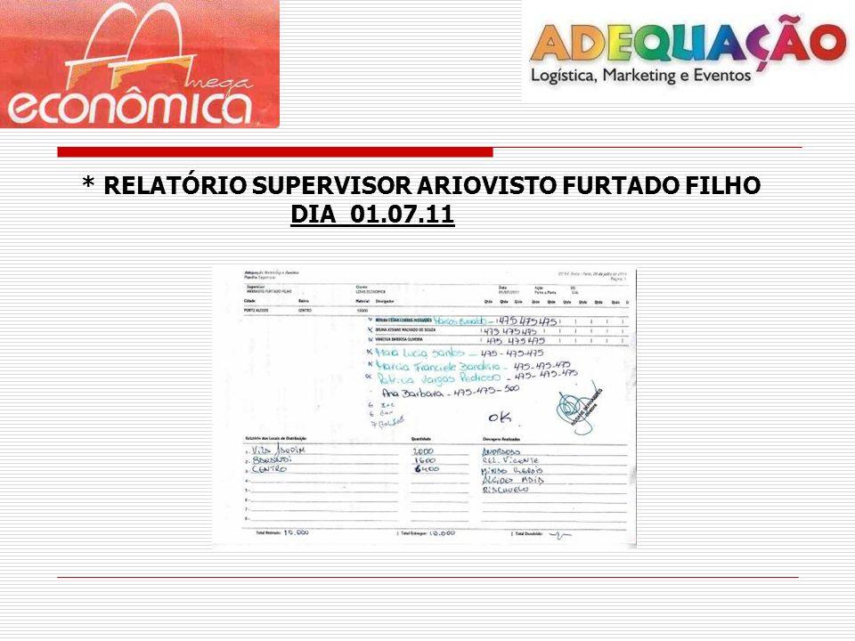 * RELATÓRIO SUPERVISOR ARIOVISTO FURTADO FILHO DIA 01.07.11