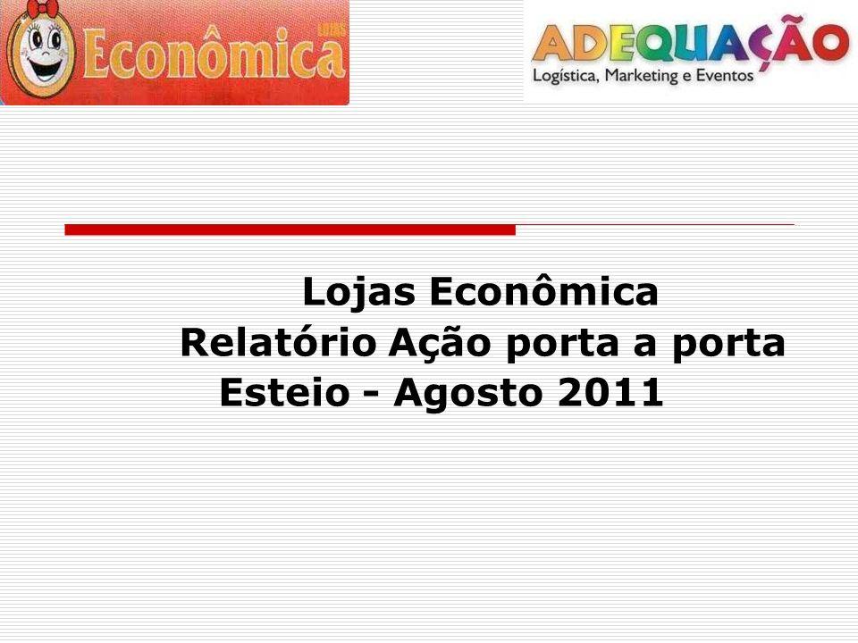 Lojas Econômica Relatório Ação porta a porta Esteio - Agosto 2011
