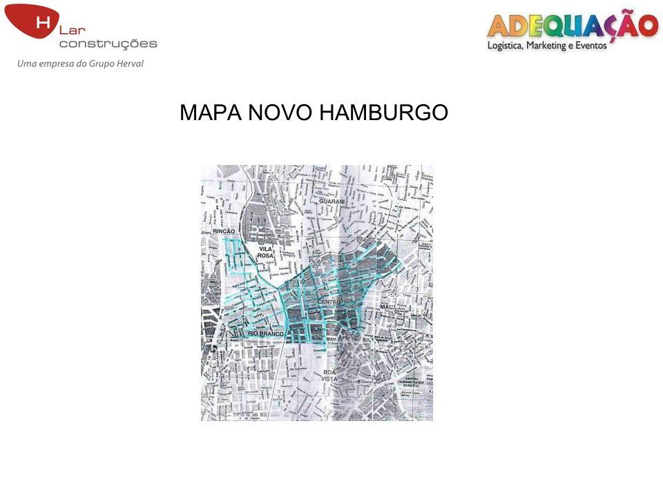 MAPA NOVO HAMBURGO