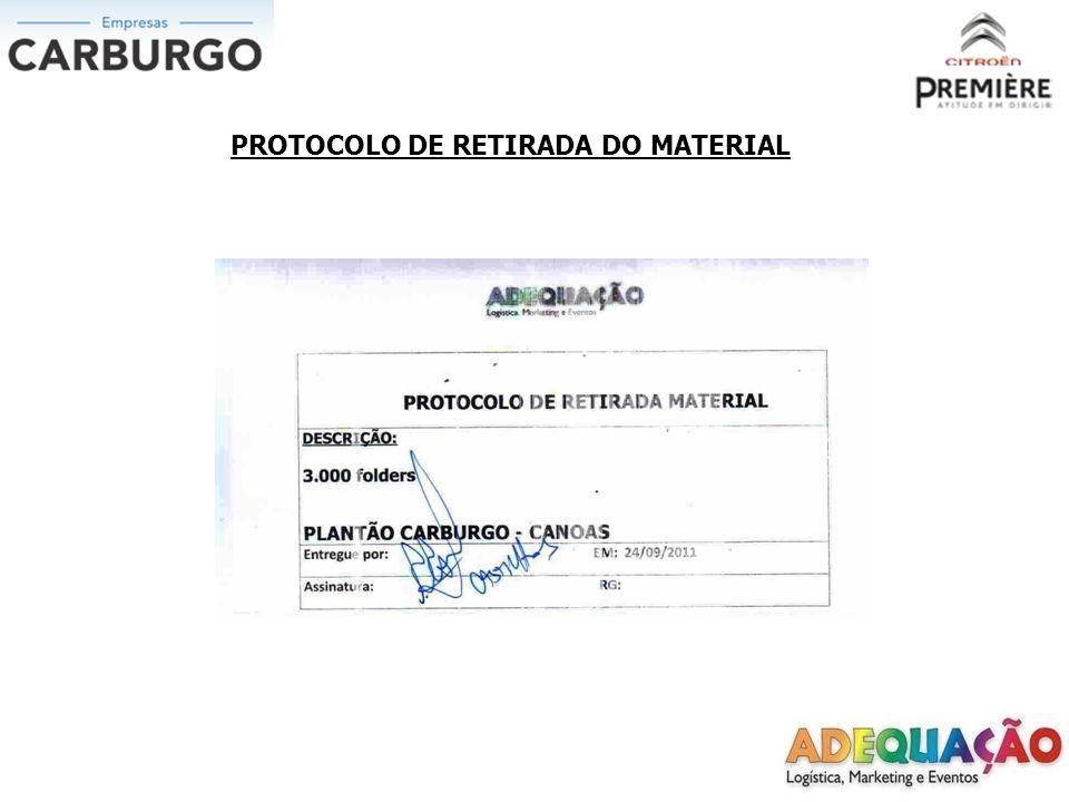 PROTOCOLO DE RETIRADA DO MATERIAL