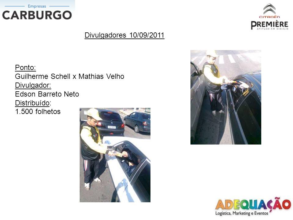 Divulgadores 10/09/2011 Ponto: Inconfidência x Getulio Vargas Divulgadora: Kelly Pires da Silva Distribuído: 1.