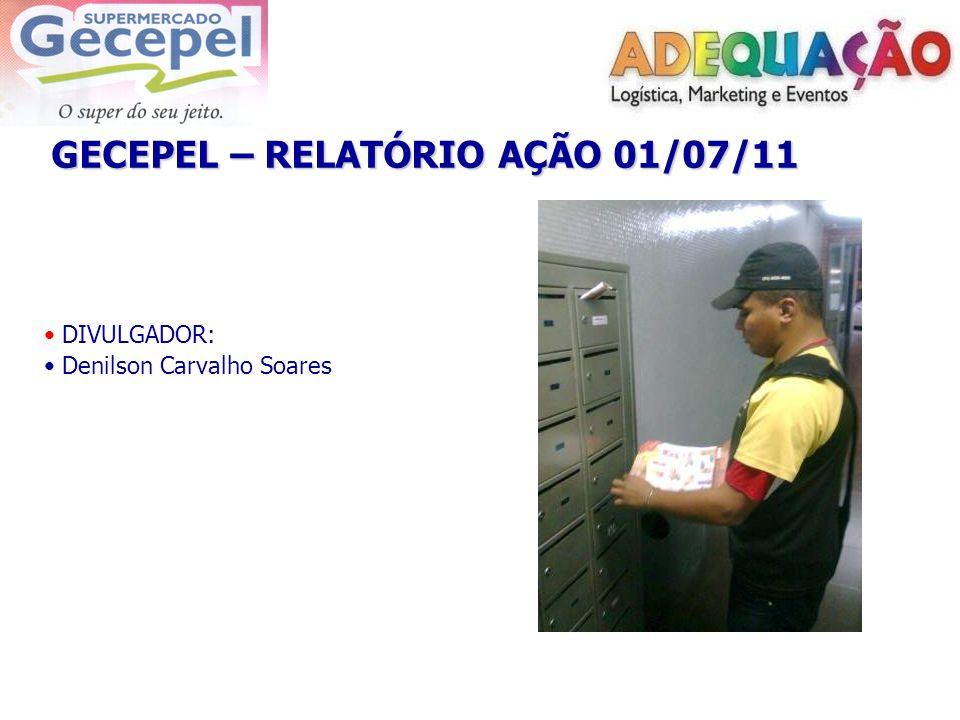 GECEPEL – RELATÓRIO AÇÃO 01/07/11 DIVULGADOR: Denilson Carvalho Soares