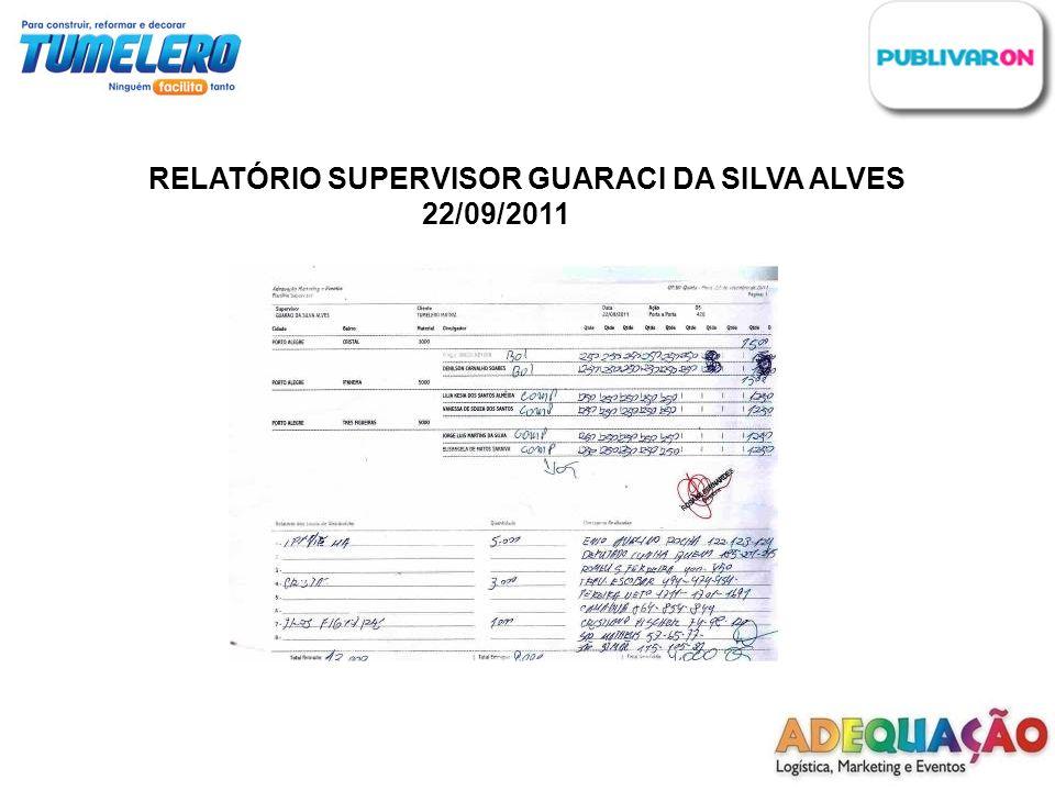 RELATÓRIO SUPERVISOR GUARACI DA SILVA ALVES 22/09/2011