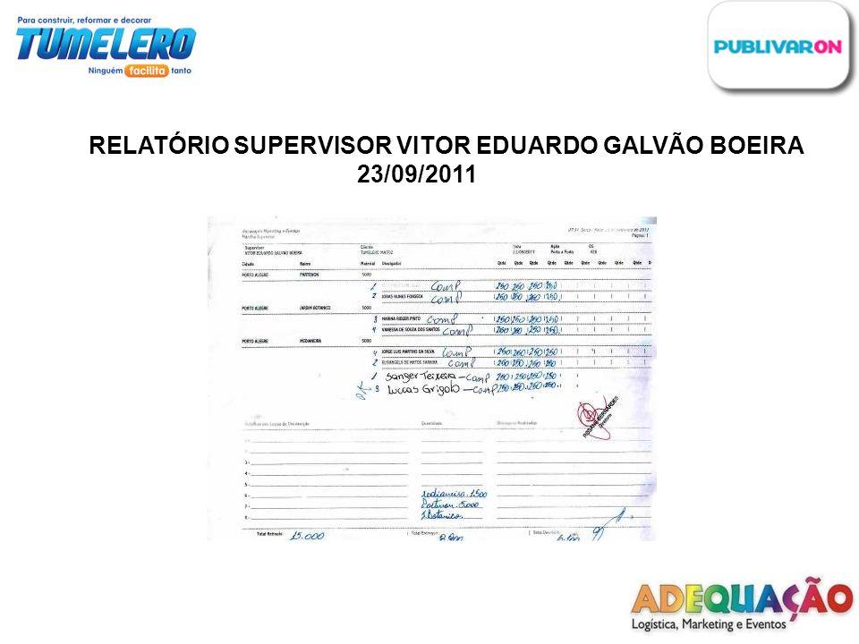 RELATÓRIO SUPERVISOR VITOR EDUARDO GALVÃO BOEIRA 23/09/2011