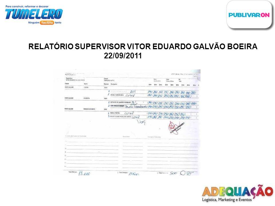 RELATÓRIO SUPERVISOR VITOR EDUARDO GALVÃO BOEIRA 22/09/2011