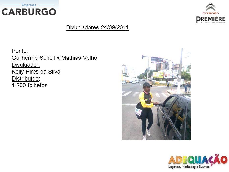 Divulgadores 24/09/2011 Ponto: Inconfidência x Getulio Vargas Divulgadora: Ana Paula Netto Medeiros Distribuído: 600 folhetos