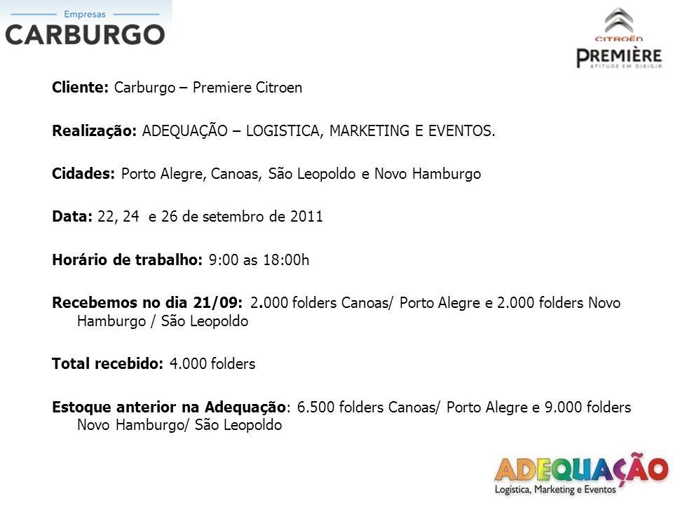 Ação: O trabalho aconteceu nos dias 22, 24 e 26 de setembro de 2011 Nas cidades de Porto Alegre, Canoas, Novo Hamburgo e São Leopoldo.A distribuição foi feita em pontos de sinaleiras.