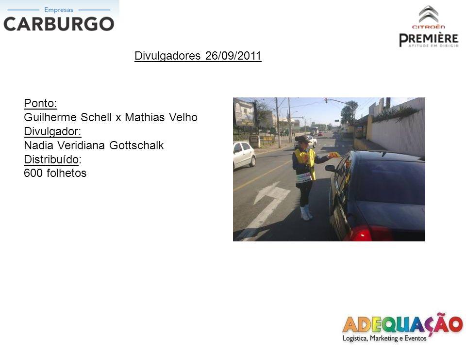 Divulgadores 26/09/2011 Ponto: Inconfidência x Getulio Vargas Divulgadora: Adriana Mendes Cirino Distribuído: 600 folhetos