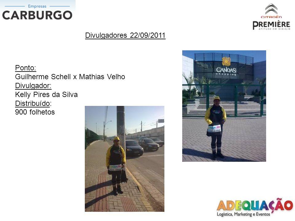Divulgadores 22/09/2011 Ponto: Inconfidência x Getulio Vargas Divulgadora: Jessica Silveira da Silva Distribuído: 900 folhetos