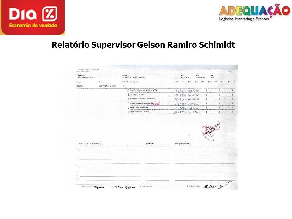 Relatório Supervisor Gelson Ramiro Schimidt