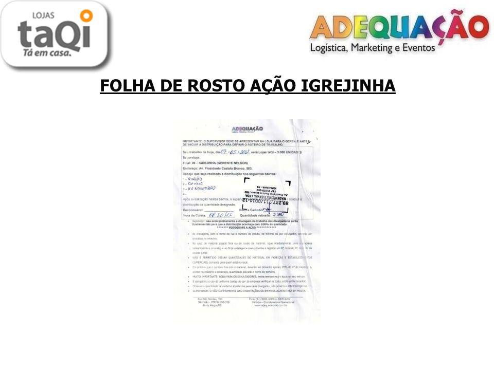 FOLHA DE ROSTO AÇÃO IGREJINHA