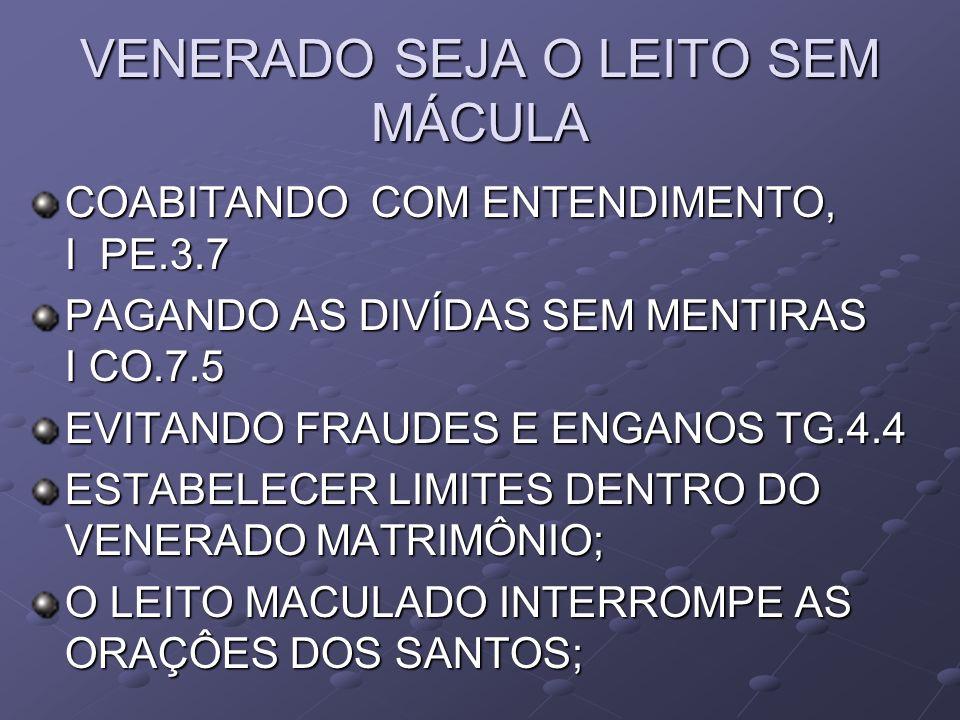 CUIDADOS INDISPENSÁVEIS AO EQUILÍBRIO DO MATRIMÔNIO MANTER OS PAIS FORA, DEIXARA O...