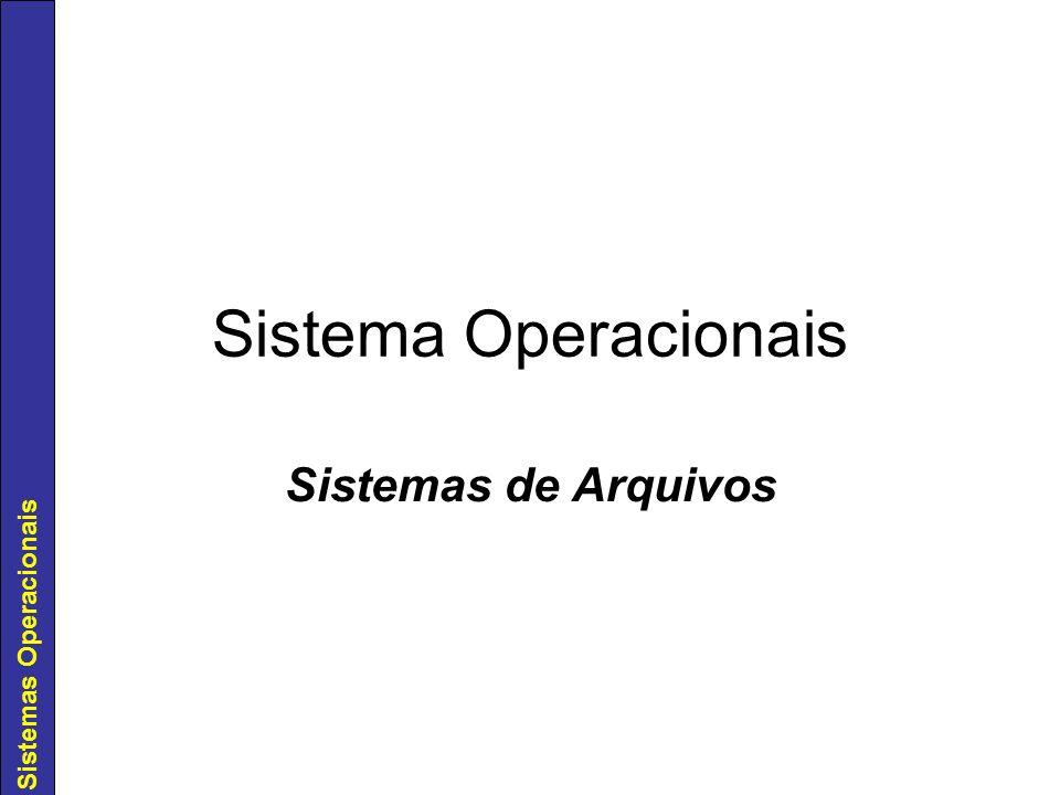 Sistemas Operacionais Sistema Operacionais Sistemas de Arquivos