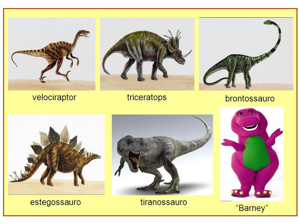 velociraptortriceratops brontossauro estegossaurotiranossauro Barney