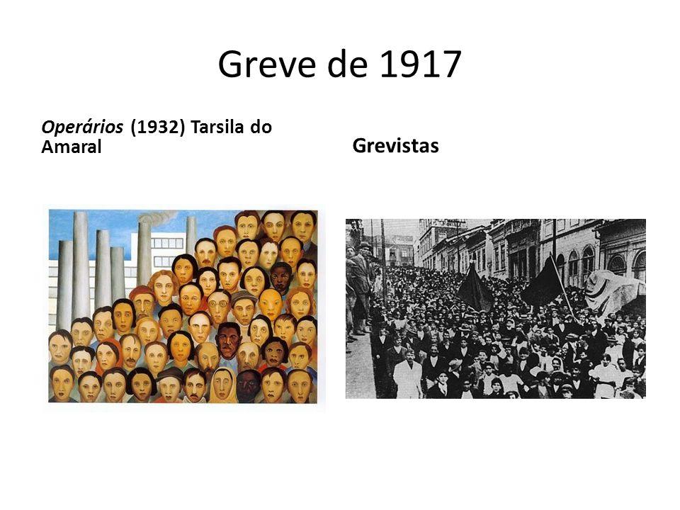 Greve de 1917 Operários (1932) Tarsila do Amaral Grevistas