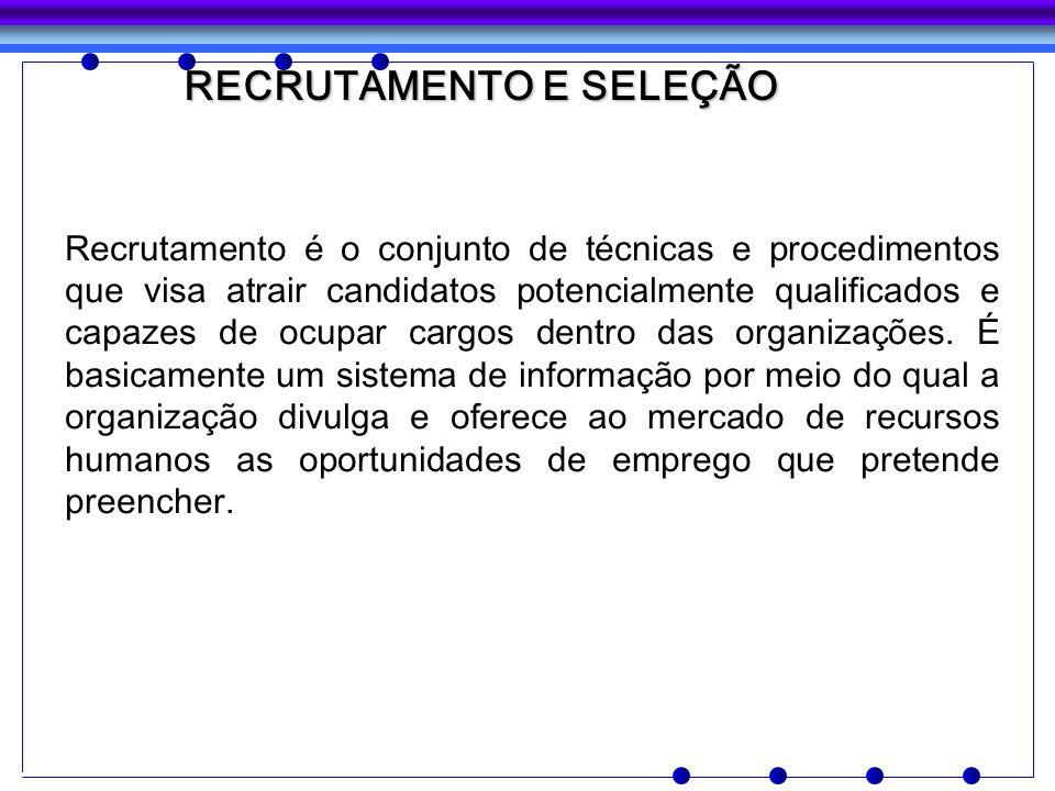 Recrutamento é o conjunto de técnicas e procedimentos que visa atrair candidatos potencialmente qualificados e capazes de ocupar cargos dentro das org